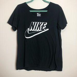 Nike Black Scoop Neck T-shirt